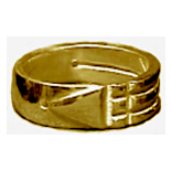 Ba-548-H Bague Atlante en Or 10K
