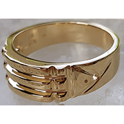 Ba-550-H Bague Atlante en Or 10K