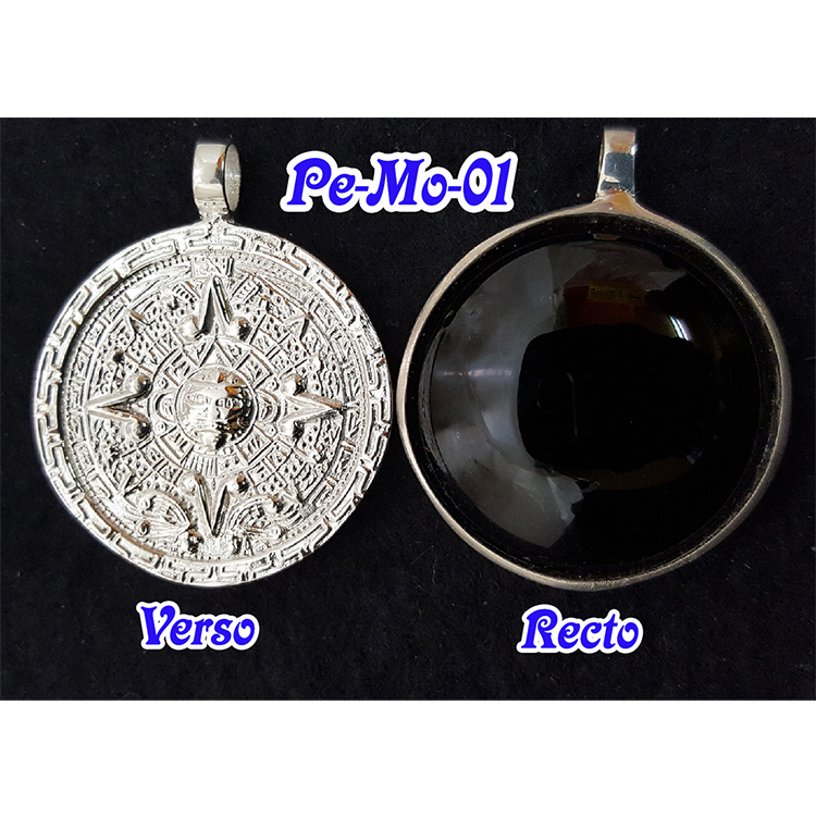 MAYAN-AZTEC MAGIC MIRROR<br>(Sterling Silver) 32mm