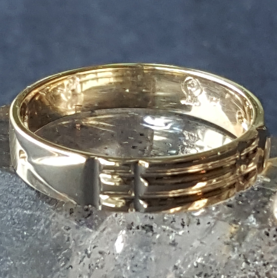 Ba-548-F Narrow Atlantis Ring 10k Gold