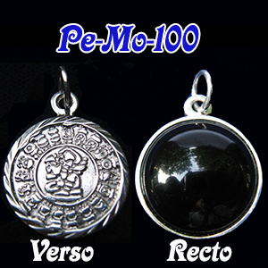 Magic mirror 20mm with Original<br>Maya Calendar (Sterling.925)
